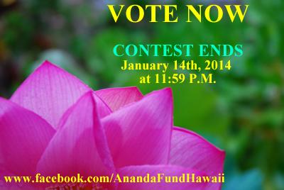 VOTE NOW_Ananda_Fund_Hawaii